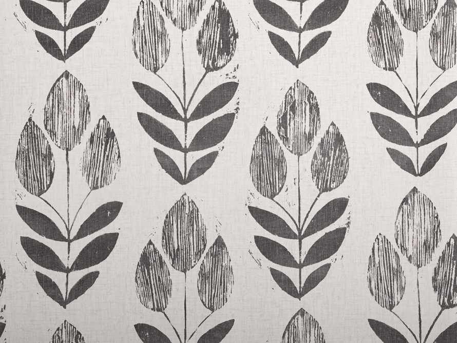 Laurel Wallpaper in Black, slide 2 of 2