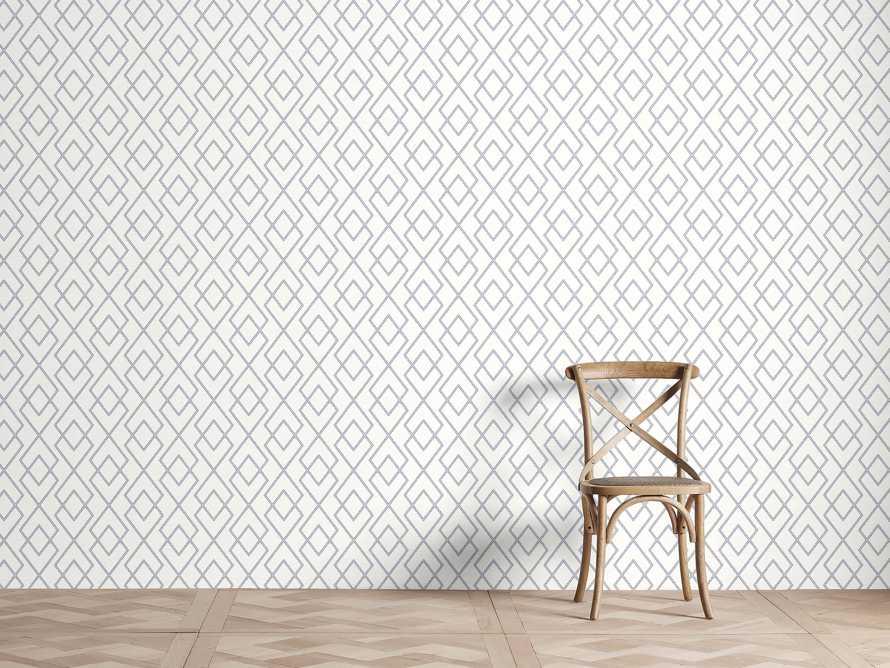 Beatrix Wallpaper in Navy, slide 1 of 2
