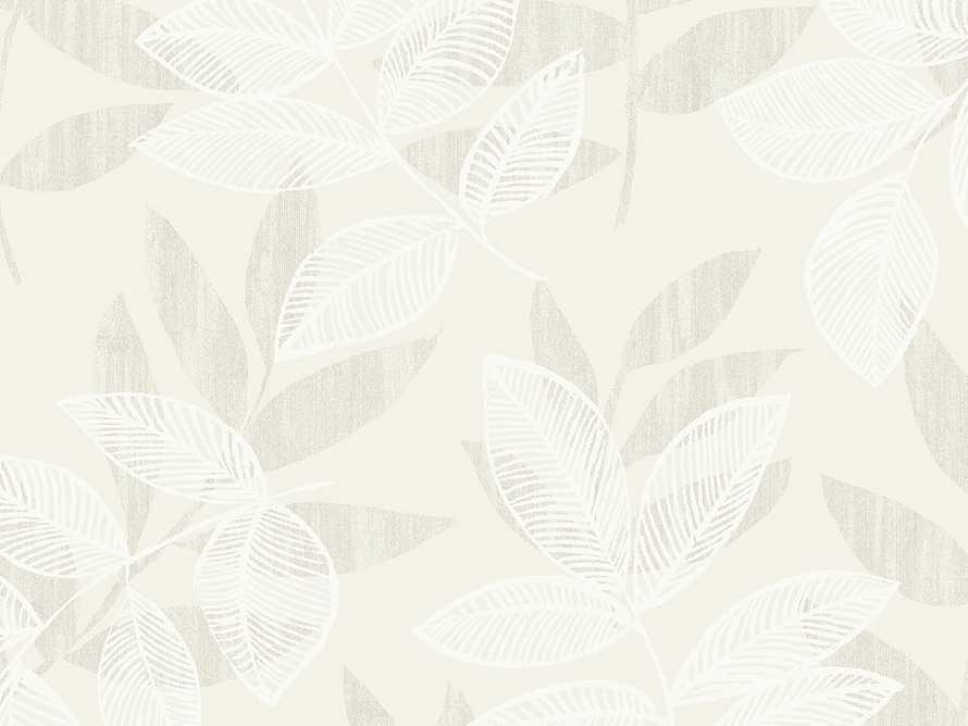 Felice Flocked Wallpaper in Champagne, slide 1 of 1