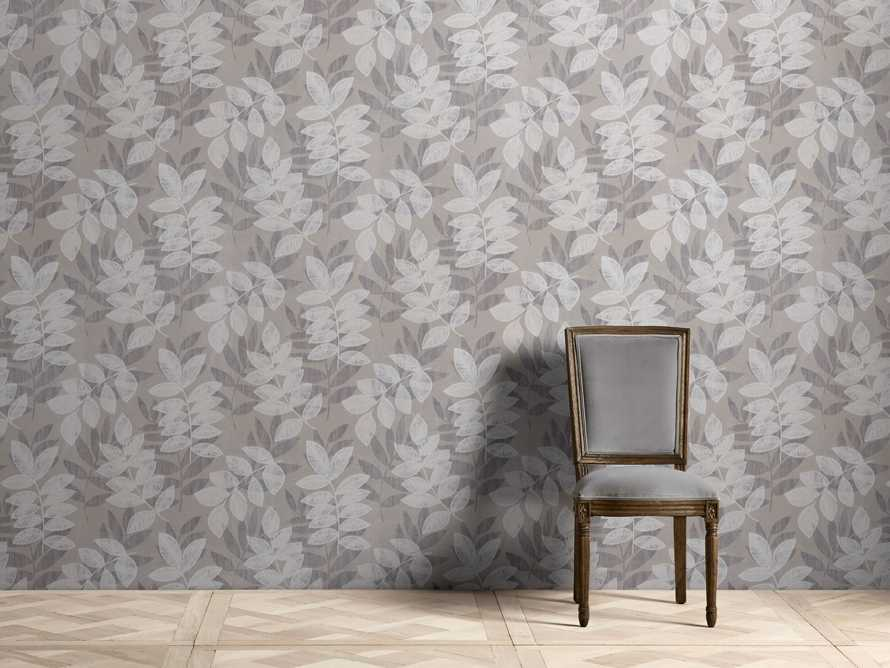 Felice Flocked Wallpaper in Charcoal