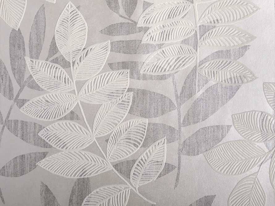 Felice Flocked Wallpaper in Charcoal, slide 2 of 2