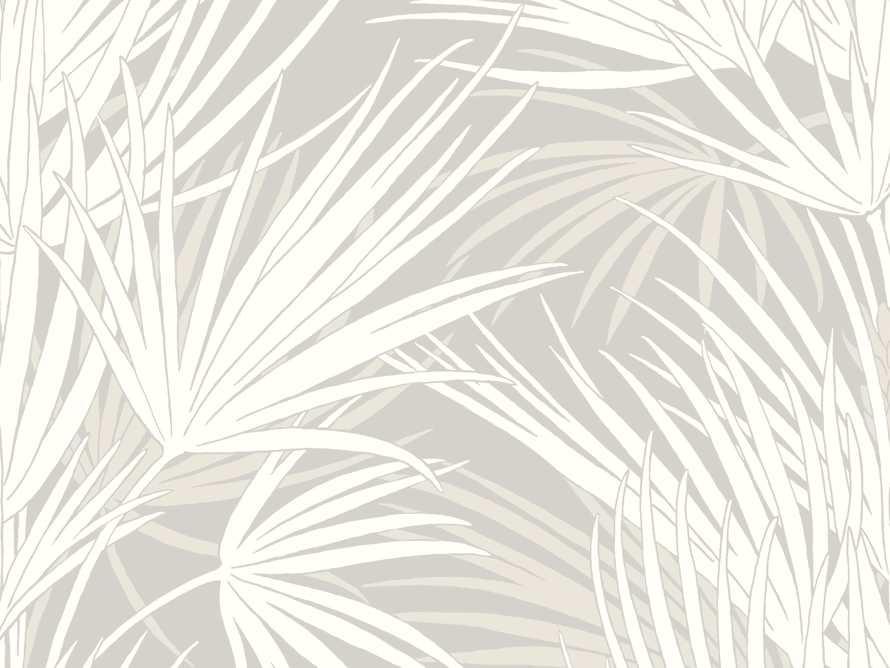 Bermuda Wallpaper in White & Grey, slide 2 of 2