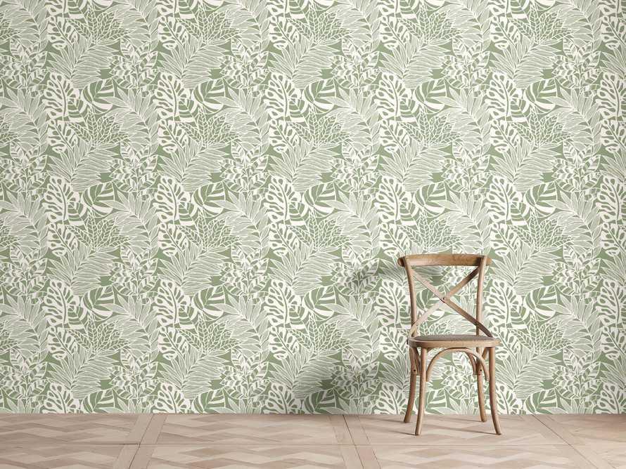 Equitorial Wallpaper in Green, slide 1 of 2