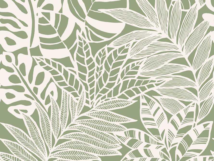 Equitorial Wallpaper in Green, slide 2 of 2