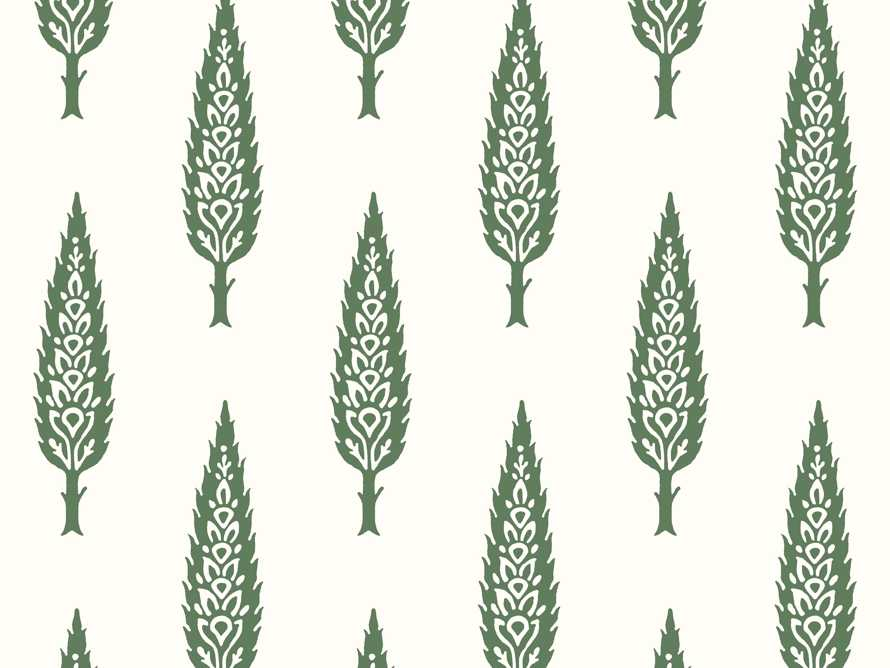 Genevrier Wallpaper in Green, slide 2 of 2