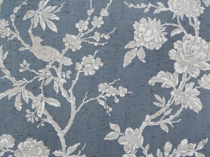 Linen Rose Wallpaper in Blue