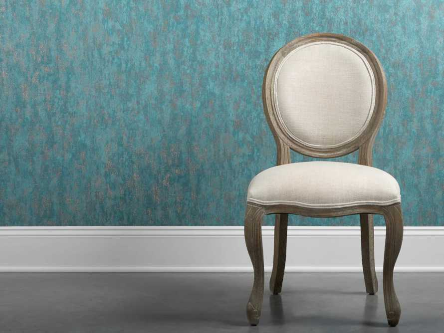 Shimmering Fields Wallpaper in Turquoise, slide 1 of 3