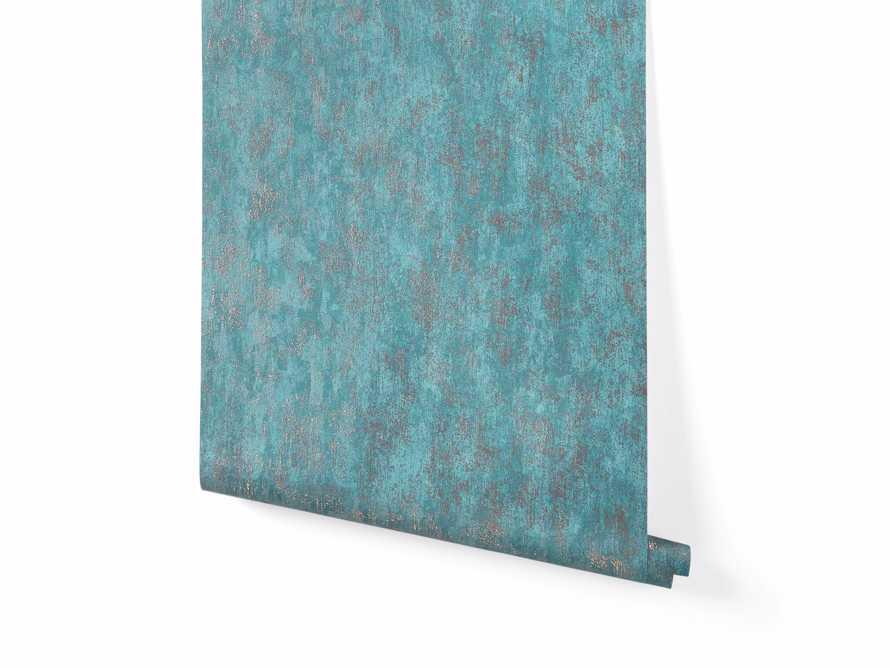 Shimmering Fields Wallpaper in Turquoise, slide 2 of 3