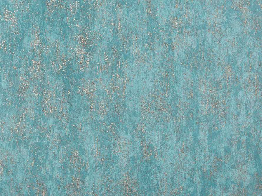Shimmering Fields Wallpaper in Turquoise, slide 3 of 3