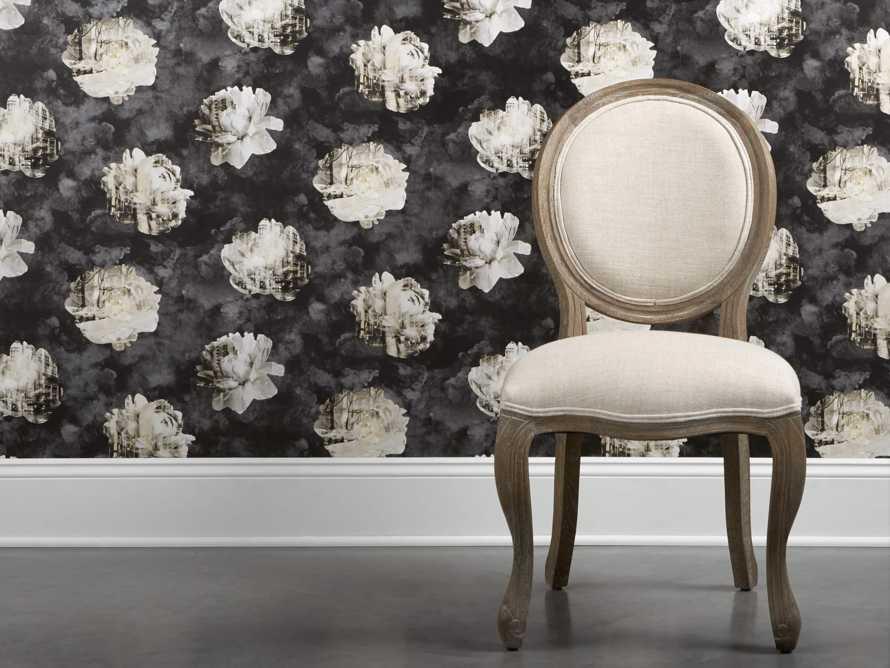 Metropolitan Bloom Wallpaper in Black, slide 1 of 3