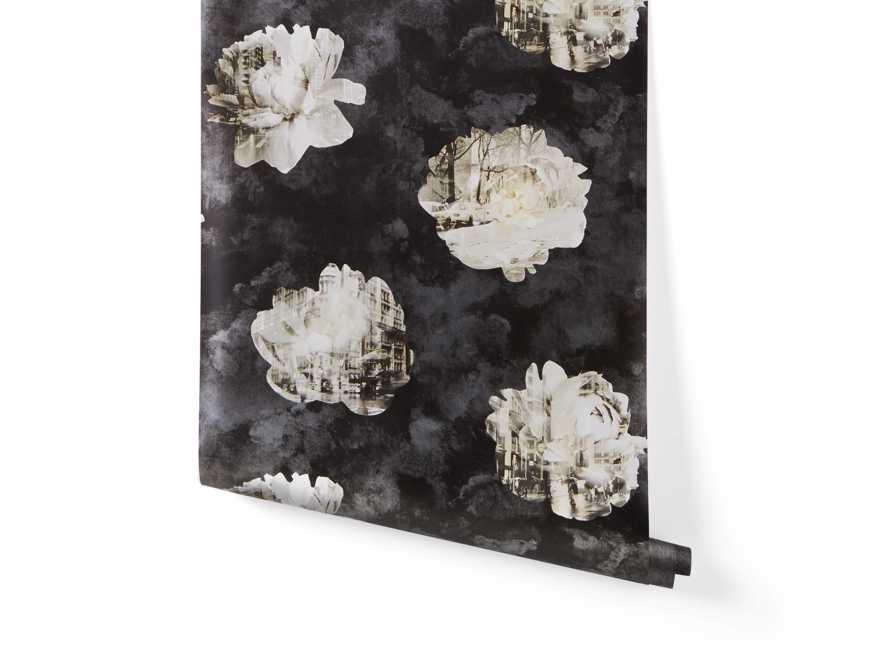 Metropolitan Bloom Wallpaper in Black, slide 2 of 3