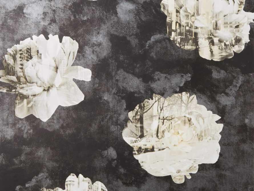 Metropolitan Bloom Wallpaper in Black, slide 3 of 3
