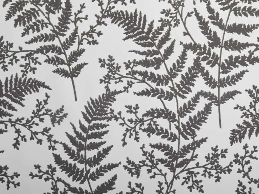 Flocked Fronds Wallpaper in Grey, slide 2 of 3