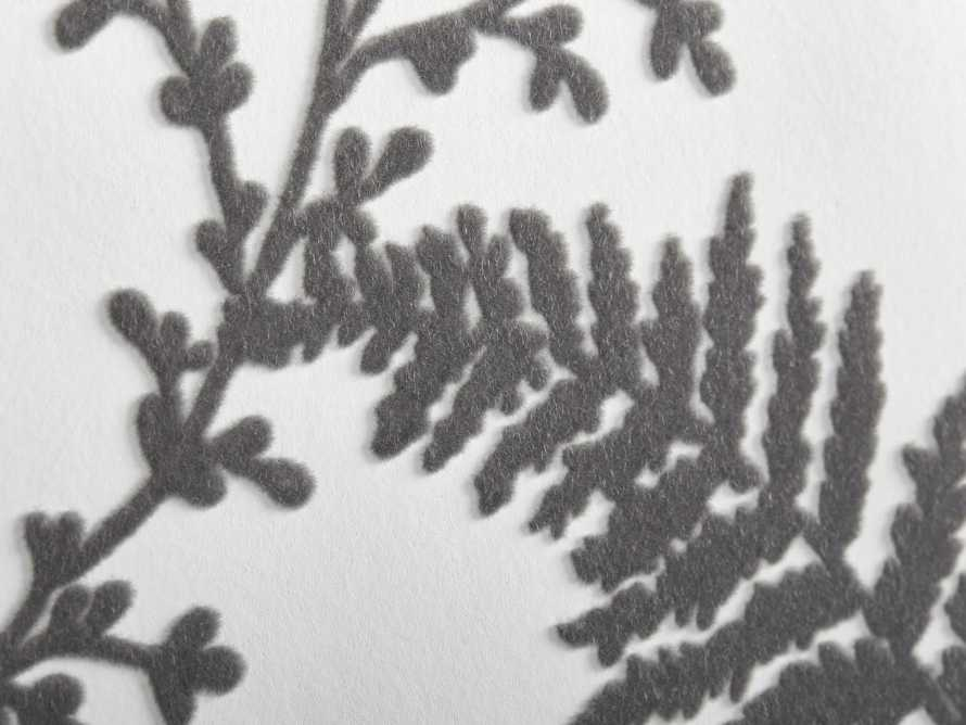 Flocked Fronds Wallpaper in Grey, slide 3 of 3