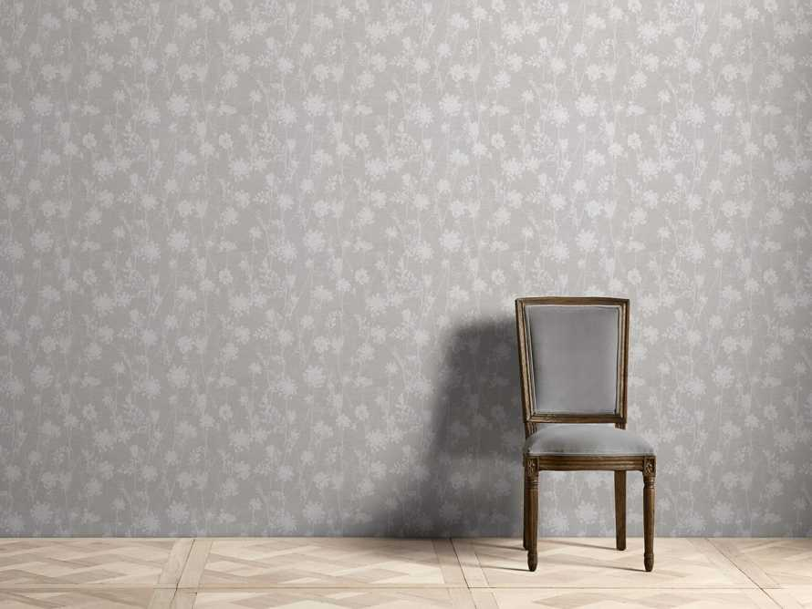 Ethereal Linen Wallpaper in Grey, slide 1 of 2