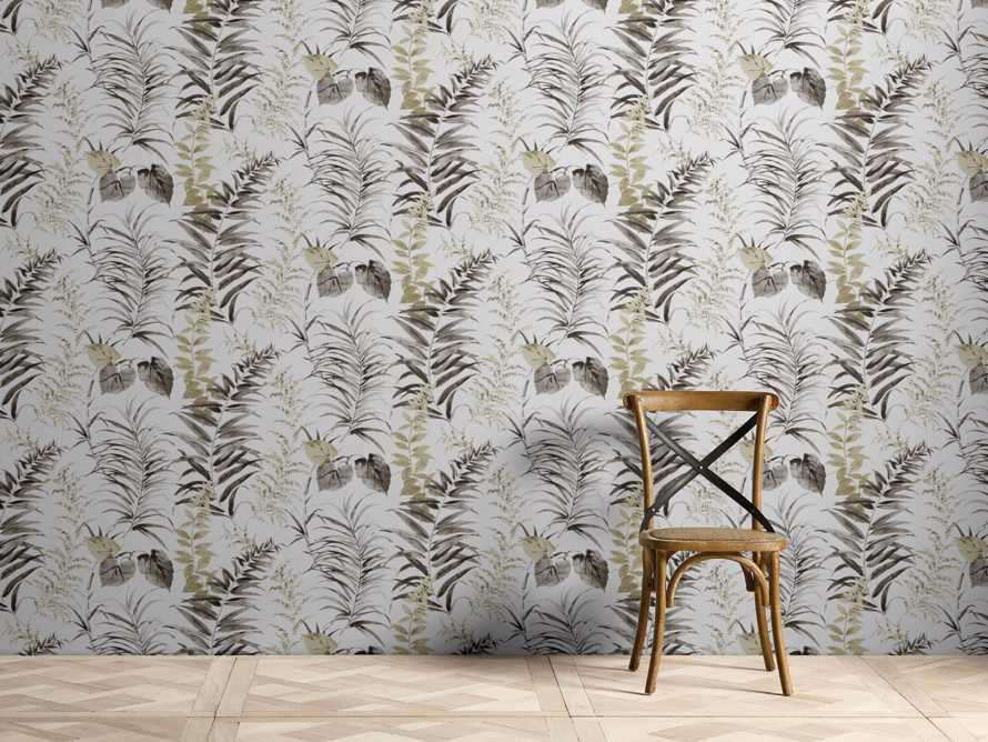 Tropical Ferns Black and Taupe Wallpaper, slide 1 of 2
