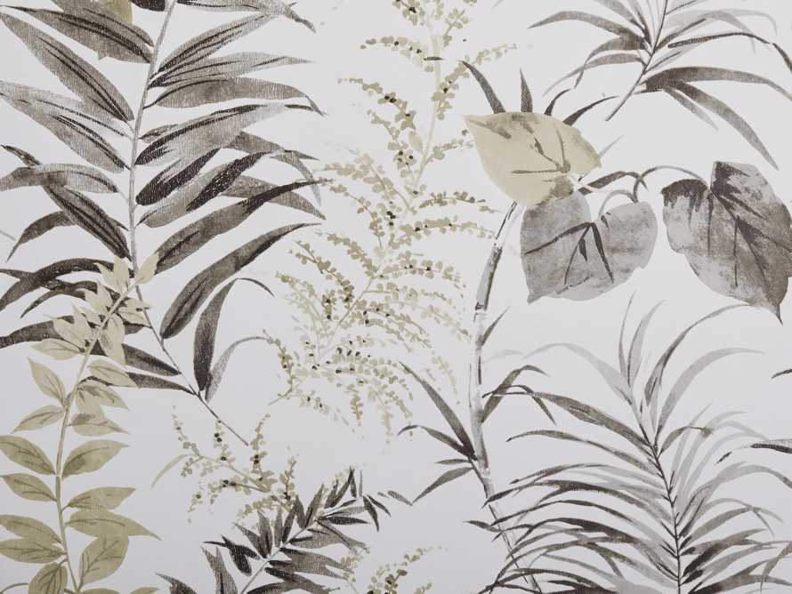Tropical Ferns Black and Taupe Wallpaper, slide 2 of 2