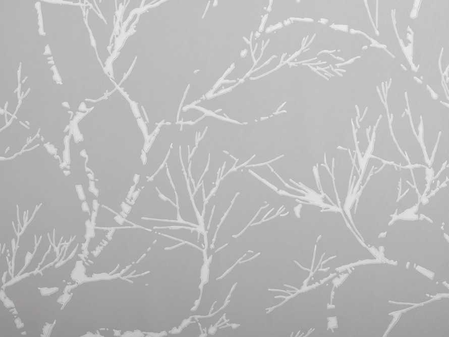 Weeping Vines Wallpaper in Light Grey, slide 2 of 2