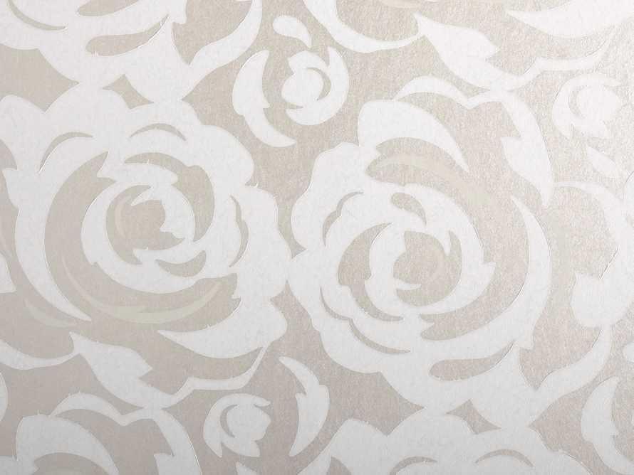 Perfect Petals Wallpaper in Silver, slide 2 of 2