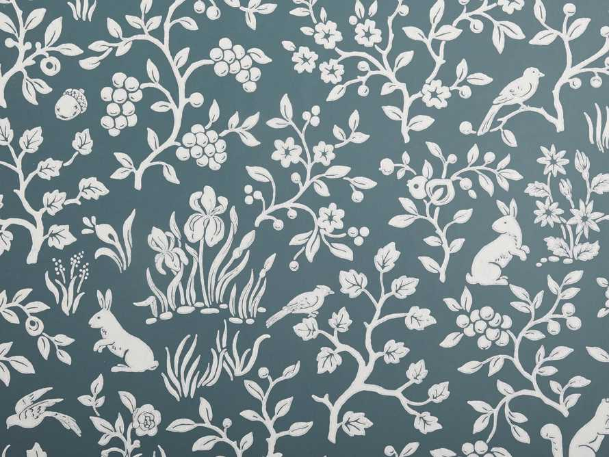 Woodlands Wallpaper in Teal, slide 2 of 2