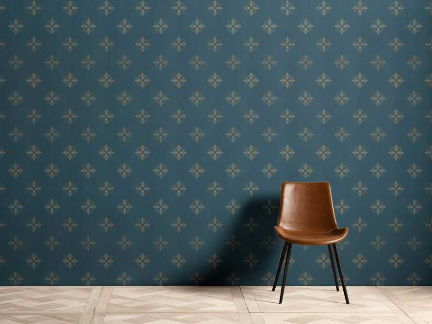 Harmony Wallpaper in Teal and Gold, slide 1 of 2