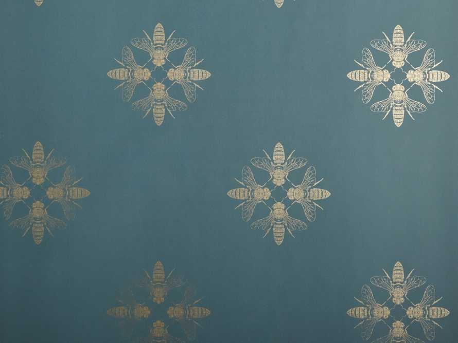 Harmony Wallpaper in Teal and Gold, slide 2 of 2