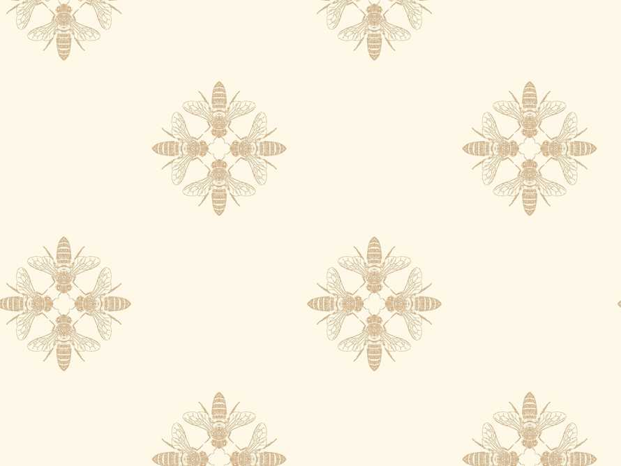Harmony Wallpaper in Ivory and Gold, slide 1 of 1