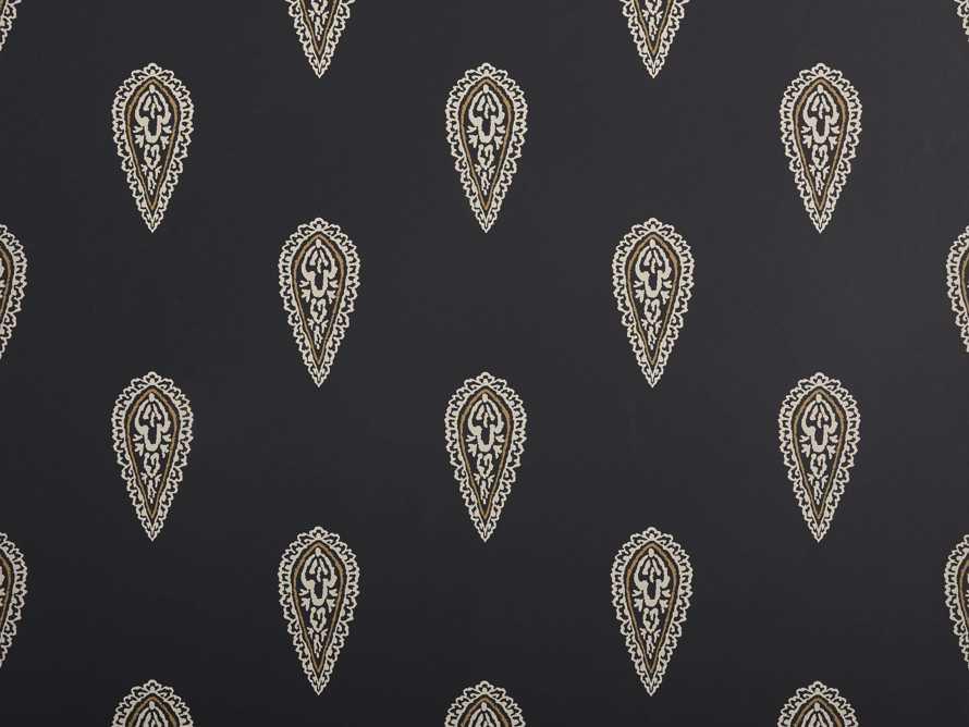 Golden Buta Wallpaper in Black, slide 2 of 4