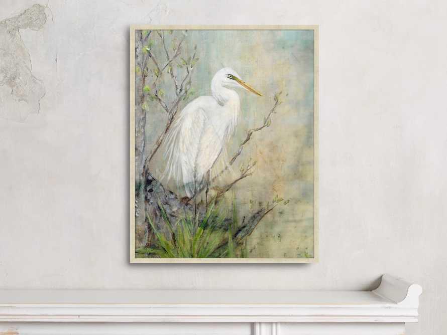 "Coastal Heron 22"" X 28"" Framed Print 1"