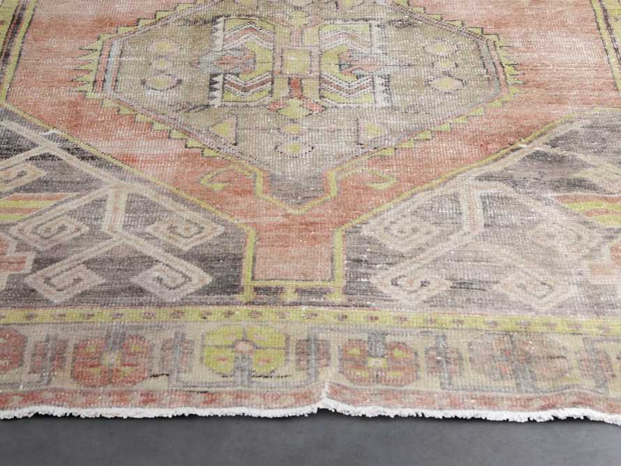 "One of a Kind Vintage Turkish 3'8"" x 10'3"" Rug"