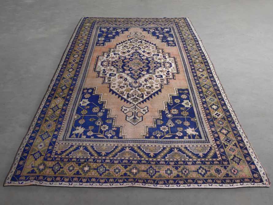 """One of a Kind 6'5"""" x 11'8"""" Vintage Turkish Oushak Rug"""