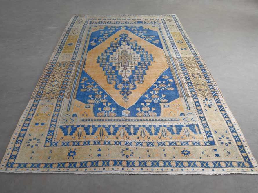 """One of a Kind Vintage Turkish 5'10"""" x 9'6"""" Oushak Rug"""