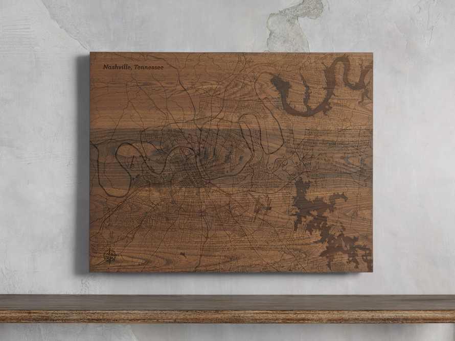 Engraved Wood Nashville Street Map in Briarsmoke, slide 1 of 3
