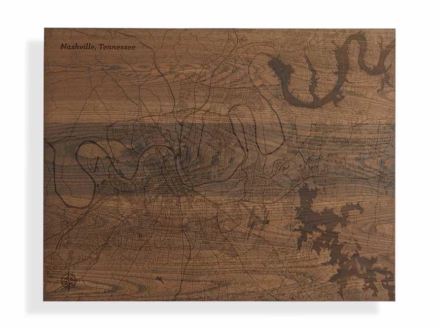 Engraved Wood Nashville Street Map in Briarsmoke, slide 3 of 3