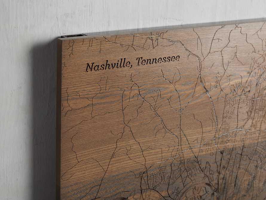 Engraved Wood Nashville Street Map in Briarsmoke, slide 2 of 3