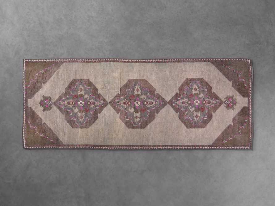 """One of a Kind 4'2"""" x 10'6"""" Vintage Kurdish Rug, slide 2 of 3"""