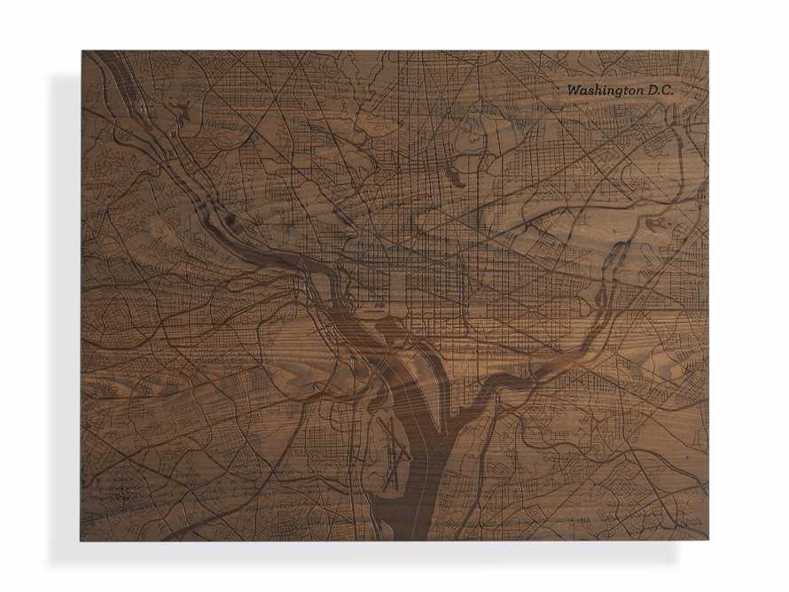 Engraved Wood Washington DC Street Map in Briarsmoke, slide 3 of 3