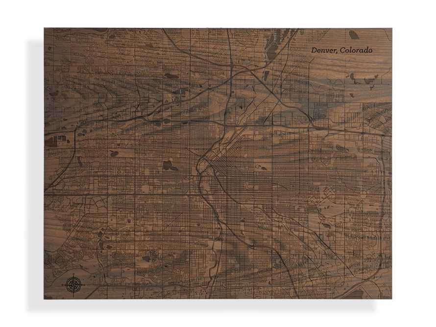 Engraved Wood Denver Map in Briarsmoke, slide 3 of 3