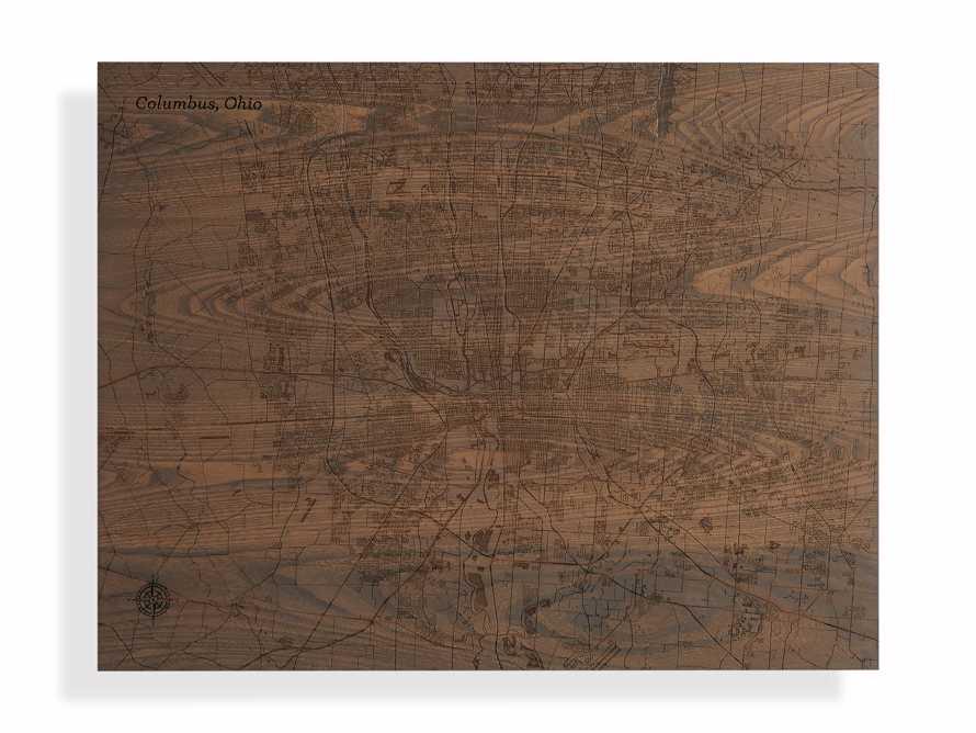 Engraved Wood Columbus Street Map in Briarsmoke, slide 3 of 3