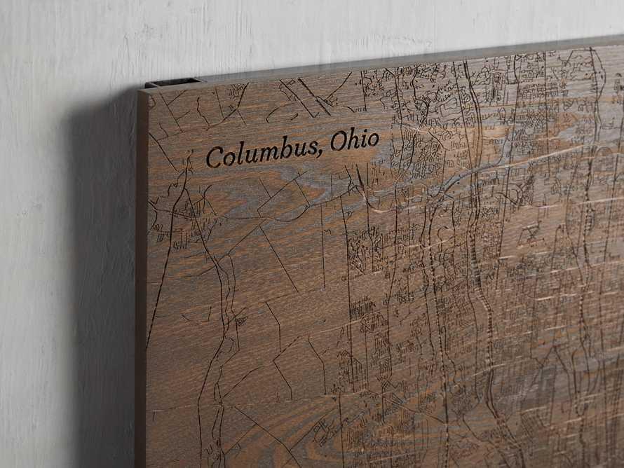 Engraved Wood Columbus Street Map in Briarsmoke, slide 2 of 3