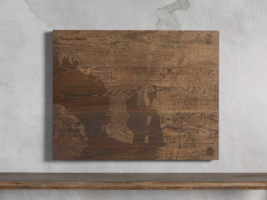 Engraved Wood Tampa Florida Street Map in Briarsmoke, slide 1 of 3