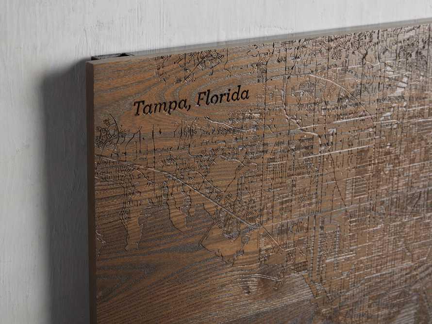 Engraved Wood Tampa Florida Street Map in Briarsmoke, slide 2 of 3