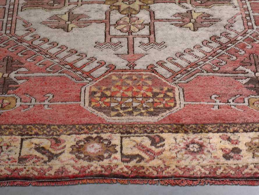 """One of a Kind 3'4"""" x 10' Vintage Turkish Oushak Rug"""