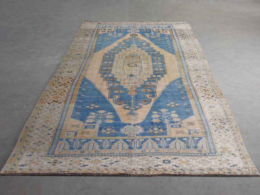 "One of a Kind Vintage Turkish 5' x 10'5"" Oushak Rug"
