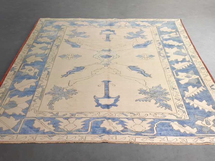 "One of a Kind Vintage Turkish 6'4"" x 8'7"" Oushak Rug"