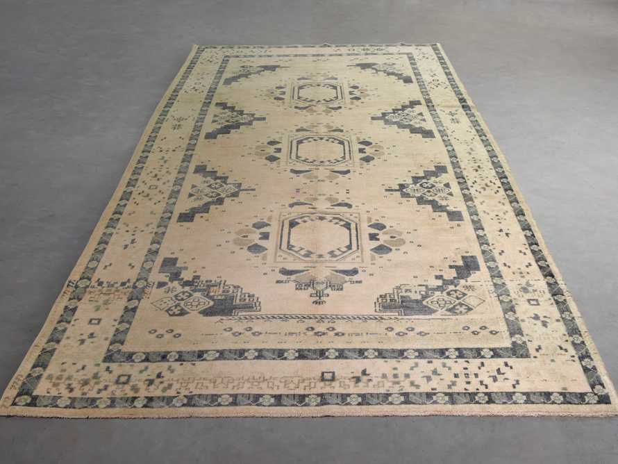 "One of a Kind Vintage Turkish 5'5"" x 11'2"" Oushak Rug"