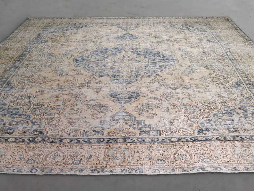 """One of a Kind 9'10"""" x 13'7"""" Vintage Persian Rug"""