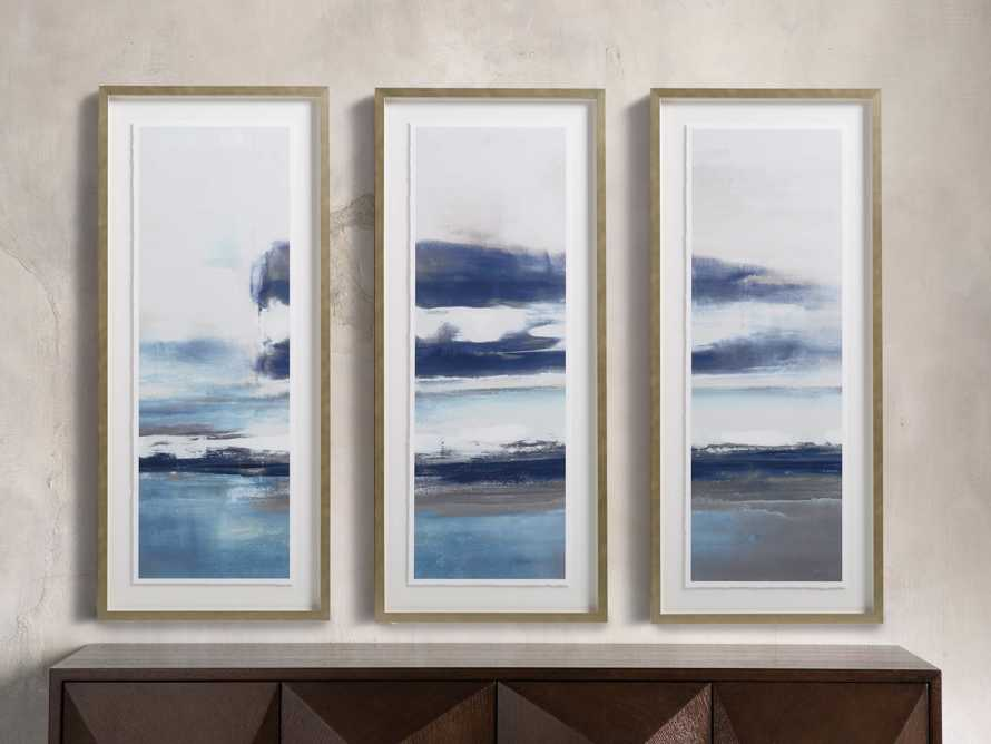 "22"" Clearing Storm Framed Triptych, slide 1 of 6"