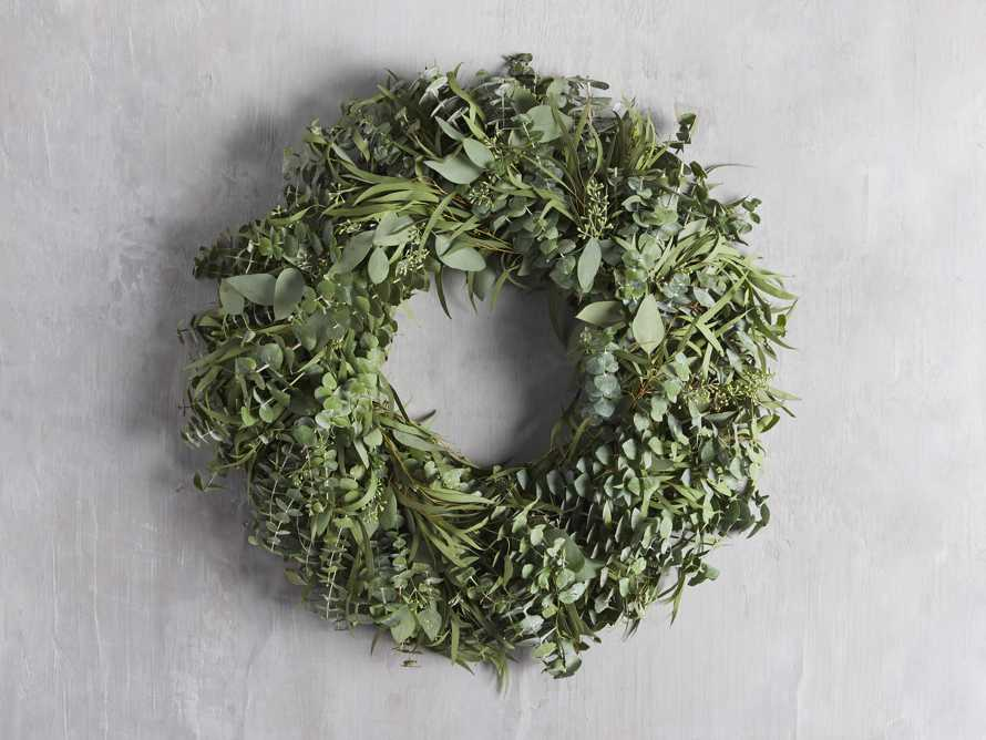"Fresh 26"" Mixed Eucalyptus Wreath, slide 1 of 3"
