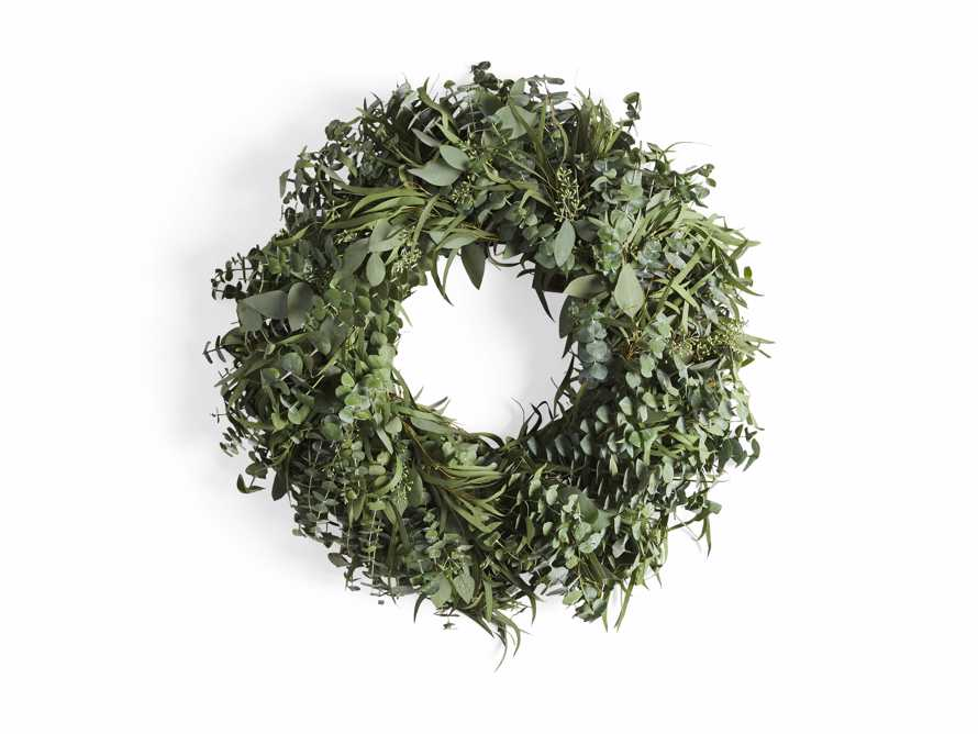 "Fresh 26"" Mixed Eucalyptus Wreath, slide 3 of 3"
